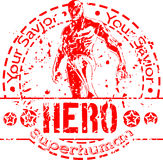 Hero Stamp Stock Images