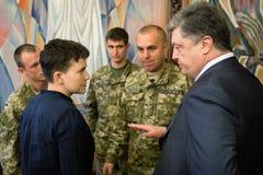 Hero of Ukraine Nadiya Savchenko after liberation from Russian p Royalty Free Stock Photography