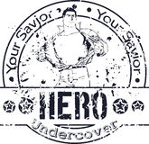 Hero Undercover Stamp Stock Photos
