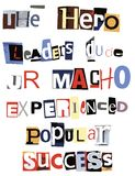 Hero Word Collage Royalty Free Stock Photos