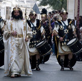 Herod e soldati Immagine Stock