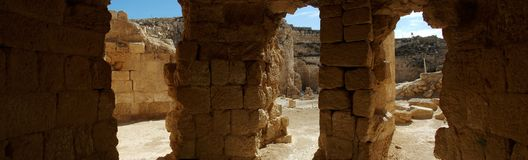The Herod's Bath House in the Herodium Castel Stock Image