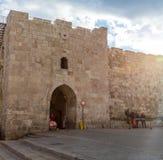 Herod`s Gate, Flowers Gate in Jerusalem, Israel Stock Photography