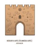 Herod's Gate in Jerusalem Royalty Free Stock Photography