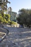 Herodes埃迪克考古学遗产Odeon从雅典的在希腊 库存图片