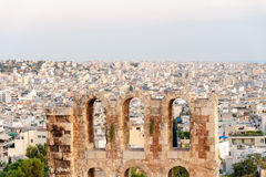 Herodes Atticus Odeon scaenae frons Royalty Free Stock Images