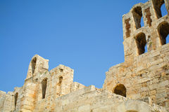 Herodes Atticus theatre Royalty Free Stock Image