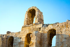 Herodes Atticus theatre Stock Photography