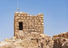 Herodian在马萨达的警卫塔在以色列 库存照片