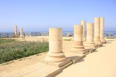 Herodian Palace at Ancient Caesarea Maritima. The Herodian Palace ruins at Ancient Caesarea Maritima. The Ancient Caesarea Maritima decribed in the Bible as the stock image
