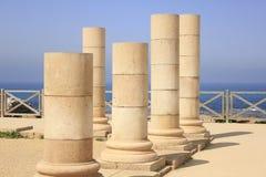 Herodian Palace at Ancient Caesarea Maritima. The Herodian Palace ruins at Ancient Caesarea Maritima. The Ancient Caesarea Maritima decribed in the Bible as the royalty free stock photos