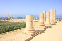 Herodian Palast in altem Caesarea Maritima Stockbild