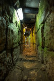 The Herodian road . Tunnel that leads from the Shiloah pool to the Temple mount in Jerusalem, it is 600 meters long. It is also called `The Herodian road stock photo