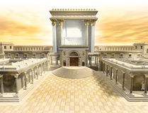 Herodian Temple. A rendering of the Jewish temple at the time of Christ. It is the Herodian Temple or second temple in Jerusalem