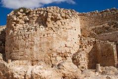 herodion以色列废墟 免版税库存图片