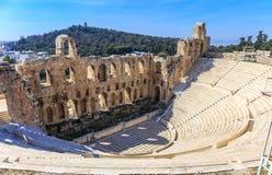 Herodion埃迪克古老剧院废墟  免版税库存图片