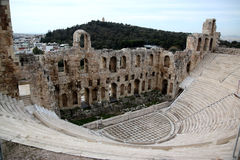 Herodion. Ancient Greek theater in Athens Stock Photos