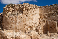 Herodion ruins in Israel. Herodion temple castle in Judea desert, Israel Royalty Free Stock Image