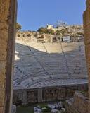 Herodion theater bleachers, Athens Greece. Herodion theater bleachers through the main entrance arch, Athens Greece Stock Photos