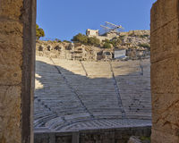 Herodion theater bleachers, Athens Greece Stock Photography