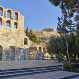 Herodion theater under acropolis, Athens Greece Stock Photography