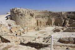 Herodium国家公园在以色列 免版税库存照片