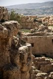 Herodium castle ruins Stock Photos