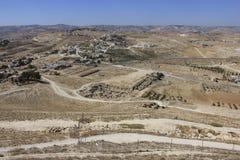 Herodium Nationaal Park in Israël Stock Foto