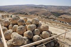 Herodium site in Judea desert. Royalty Free Stock Images
