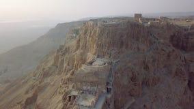 Παλάτι Herods από τον κηφήνα απόθεμα βίντεο