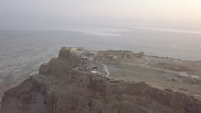 Herods palase and landscape behind. Aerial view stock video