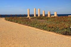 Herods Promontory Palace in Caesarea Maritima National Park Stock Photography