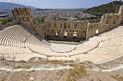 Herodus Atticus theater at Athens Stock Photos