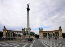 Heroe´s  square in Budapest Stock Photo