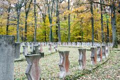 The Heroes Cemetery in Sibiu Royalty Free Stock Images