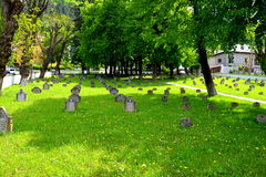 Heroes Cemetery from WWI in Brasov, Transylvania Stock Photography