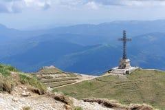 Heroes Cross on Caraiman Peak Stock Image