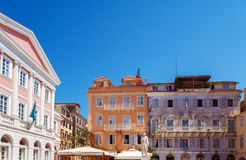Heroes of Cypriot Struggle Square, Corfu, Greece Royalty Free Stock Photo