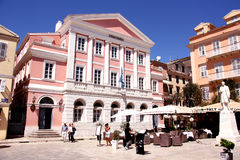 Heroes of Cypriot Struggle Square, Corfu, Greece Royalty Free Stock Image