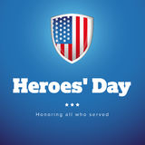 Heroes Day USA banner set Stock Images
