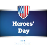 Heroes Day USA banner Stock Images