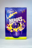 Heroes Easter Egg. CHESTER, UNITED KINGDOM - March 19 2017: Cadbury`s Heroes Easter Egg box. A popular chocolate treat for the Easter holidays Royalty Free Stock Images