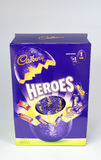 Heroes Easter Egg. CHESTER, UNITED KINGDOM - March 19 2017: Cadbury`s Heroes Easter Egg box. A popular chocolate treat for the Easter holidays Royalty Free Stock Photography