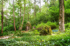 Heroes Grove. Forest Picture of a World War II Memorial in Bavaria, Germany. Shot was taken on a warm summer evening near a little village Stock Images