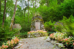 Heroes Grove. Forest Picture of a World War II Memorial in Bavaria, Germany. Shot was taken on a warm summer evening near a little village Royalty Free Stock Images