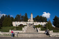 Heroes Mausoleum in Valea Mare-Pravăt Royalty Free Stock Images