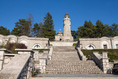 Heroes Mausoleum in Valea Mare-Pravat. Heroes Mausoleum Pravăt Valea Mare, Arges county, known as the Mausoleum of Matthias, is a monument dedicated to the Stock Image