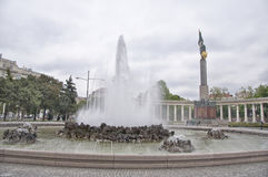 Heroes' Monument of the Red Army in Vienna. The monument was built to commemorate 17000 Soviet soldiers who fell in the Battle for Vienna of World War II Royalty Free Stock Photo