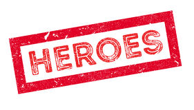 Heroes rubber stamp Stock Image