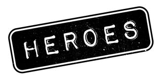 Heroes rubber stamp Stock Photos